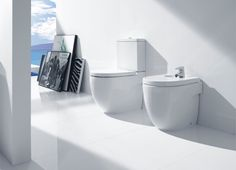 Roca Meridian-N Floor Standing Back to The Wall Compact Bidet : UK Bathrooms