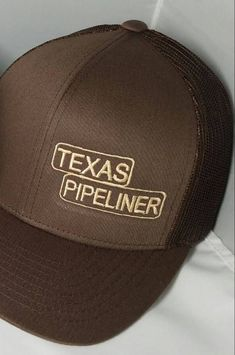 711fd75b2fa Brown Texas Pipeliner Cap by Rgv956custommadekeyc on Etsy Gifts For Welders