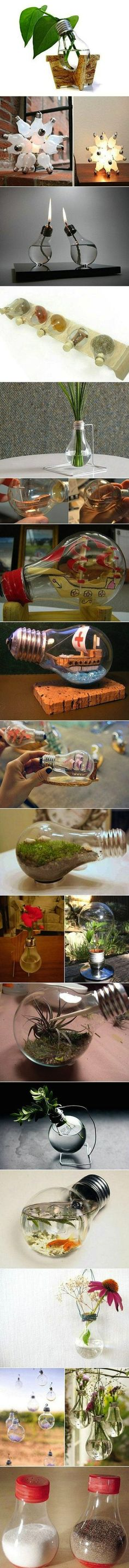 Clever Ways To Up-Cycle Your Dead Lightbulbs | HooplaHa.com