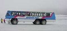 Foremost Terra Bus 6x6 (Snowcoach) de la empresa Brewster Co. en el Glaciar de Athabasca (Parque Nacional Jasper de Canadá) en 2006. Motor de 250 CV. Fotografia by Leonarg G..