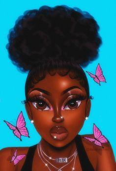 How To Create Your Own Cartoon Eyelash Box Ivoire Lashes Drawings Of Black Girls Black Girl Cartoon Black Girl Art