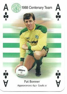 1998 Centenary Team - Pat Bonner of Celtic. Steven Page, Association Football, Celtic Fc, Glasgow Scotland, Goalkeeper, Playing Cards, Soccer, Goals, Baseball Cards