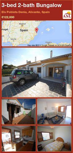 3-bed 2-bath Bungalow in Els Poblets Denia, Alicante, Spain ►€122,000 #PropertyForSaleInSpain