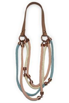 Cotton rope necklase in pastel colours. My favourite this summer. Designers Remix.