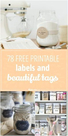 Organize and enrich your life with these 78 Free Printable Labels and Tags! via with love tags free printable jar labels 78 Free Printable Labels and Beautiful Tags Soap Labels, Candle Labels, Pantry Labels, Canning Labels, Canning Recipes, Spice Labels, Printable Lables, Free Printables, Printable Recipe