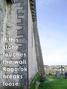 This bauta stone comes with a frightening VIking spell