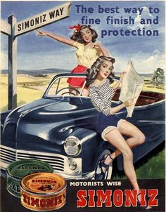 1950s advertising posters