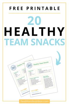Need ideas for healthy team snacks? Get this free printable full of ideas. Sports Snacks, Team Snacks, Healthy Snacks For Kids, Get Healthy, Family Get Together, Sports Nutrition, Eating Well, Party Planning, Free Printables
