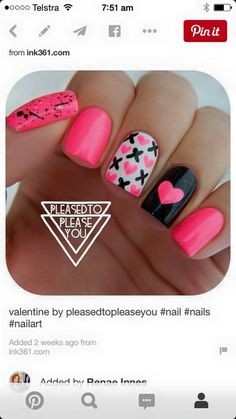Valentine Shellac nail idea