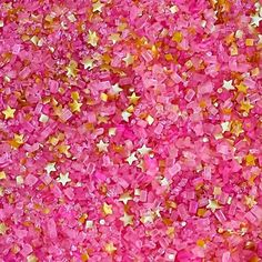 Bakery Bling™ 'Material Girl' Glittery Sugar™ Hot Pink with Gold Stars - Shop now at: www.bakerybling.com