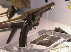 Tom Custer's revolver found at Little Big Horn battlefield.
