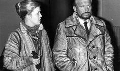 Bøje Nielsen med sin kone Susanne Kayser i Københavns Byret i 1981. - Leveret af BT