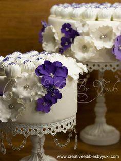 Cake pops on a cake
