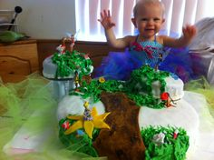 pixie hollow birthday cake for two. Made by my sister!! It was so awesome!!