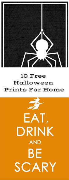 Cute free printables Halloween prints for home.