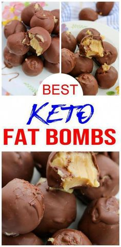 5 Ingredient Keto Chocolate Fat Bombs BEST Chocolate Peanut Butter Balls Fat Bombs Easy NO Sugar Low Carb Recipe - Keto fat bombs Keto Chocolate Fat Bomb, Low Carb Chocolate, Chocolate Cheesecake, Chocolate Recipes, Blueberry Cheesecake, Chocolate Ganache, Cream Cheese Fat Bombs, Cream Cheese Recipes, Cream Cheeses
