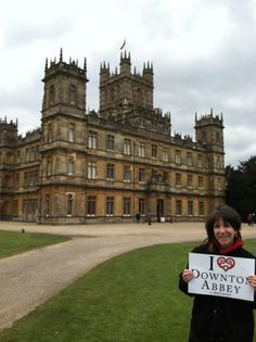 Yes, that is THE Downton Abbey!