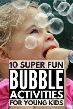 Ideas For Science Experiments Kids Bubbles Sensory Play Bubble Games For Kids, Bubble Activities, Craft Activities For Kids, Kids Crafts, Kids Fun, Summer Activities, Family Activities, Science Experiments For Preschoolers, Preschool Science Activities