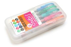 Uni-ball Signo Gel Ink Pen - mm - 10 Color Set for color coding