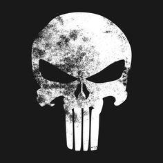 Awesome 'The+Punisher+Minimalist+Grunge' design on TeePublic!