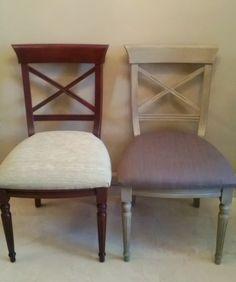 Renovar con pintura y tapizado una silla en  casa.
