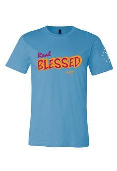 Men's Real Blessed Maroon Orange T-Shirt