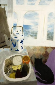 The Chinese Teapot, Mary Fedden Illustrations, Illustration Art, Collages, Still Life Art, Fruit Art, Naive Art, Cat Art, Painting Inspiration, Statues