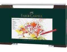 Faber Castell India ink PITT artist pen woodcase gift set of 90 (167400) #FaberCastell