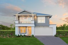 Hamptons B Facade. Displayed as: St. Clair 37 One. Die Hamptons, Hamptons Style Homes, Mcdonald Jones Homes, Alfresco Area, Storey Homes, Cool Coffee Tables, Affordable Housing, Facade House, Beautiful Homes