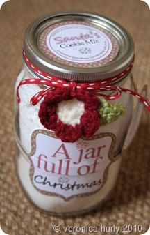 Cookie Mix Gift Jar and free printable labels