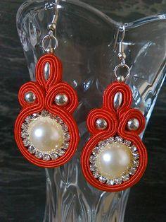 Badi / Soutache Drop Earrings, Jewelry, Fashion, Moda, Jewlery, Jewerly, Fashion Styles, Schmuck, Drop Earring