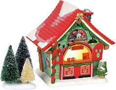 Disney Christmas Village, Disney Village, Department 56 Christmas Village, Christmas Tree Lots, Merry Christmas, Mickey Christmas, Christmas Party Games, Christmas Villages, Outdoor Christmas Decorations