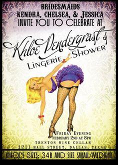 Lingerie shower invites