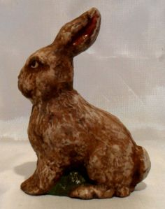 Primitive Handmade Easter Bunny Figurines by LauralCreek on Etsy SOLD