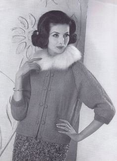 Vintage Patterns Knitted 60s Chic Dresses Coats Sweaters and Jackets