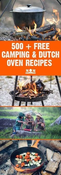 Camping & Dutch Oven Recipes - perfect for camping out, Boy Scouts, Girl Scouts and summer backyard camping adventures. Glamping, Camping Bedarf, Dutch Oven Camping, Backyard Camping, Outdoor Camping, Camping Recipes, Camping Hacks, Family Camping, Camping Checklist
