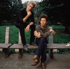 """never answer a question directly."" • jim jarmusch on the best advice tom waits ever gave him • 1985 photo by deborah feingold"