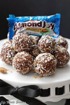 No Bake Almond Joy Energy Bites make the perfect healthy snack. Best of all, they're gluten free, refined sugar free and vegan!