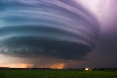 Awe-Inspiring Skies, Captured by an Extreme Storm Chaser | A striated supercell passes just north of Grand Island, Nebraska on May 10, 2005.   Mike Hollingshead  | WIRED.com