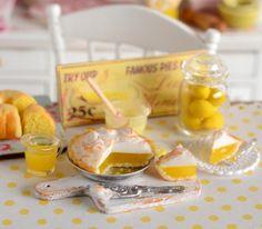 Miniature Lemon Meringue Pie Set by CuteinMiniature on Etsy