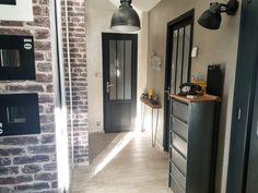 Transform a classic door into a workshop door - We love deco - Corridor Classic Doors, Deco, Tall Cabinet Storage, Home Decor, Diy Déco, Home Deco, Interior Design Living Room, Interior Design, Interior Design Bedroom
