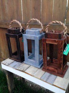 Diy wooden lanterns rustic reclaimed wood lantern candle holder home decor diy rustic wood lanterns Rustic Wood Crafts, Wood Home Decor, Handmade Home Decor, Rustic Decor, Diy Home Decor, Country Decor, Vintage Decor, Wooden Lanterns, Lanterns Decor