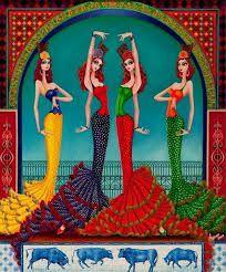 Resultado de imagen de dibujos de bailaoras flamencas