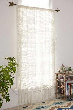 Pieced Crochet Curtain