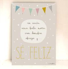 Lámina Infantil Sé feliz Minigallerie #compartirvideos #feliz-cumpleaños