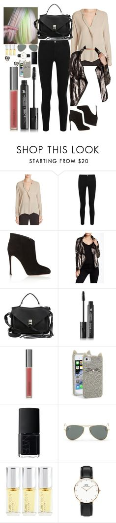 """""""Untitled #1408"""" by inthesun707 ❤ liked on Polyvore featuring Vince, Victoria, Victoria Beckham, Gianvito Rossi, MuuBaa, Rebecca Minkoff, LashFood, Perricone MD, Kate Spade, NARS Cosmetics and Ray-Ban"""