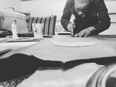 Thomas Nkuna CO-CEO of Splendid Group makes his own leather products.  Thomas Nkuna believes in creation. He says it is the only way for African business to grow. 1. Having your o…