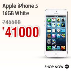 Apple iPhone 5-16GB White » for Rs. 41,000.