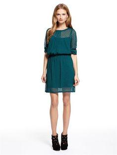 petrol DKNY dress