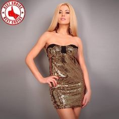 Gold sparkle pailette dress